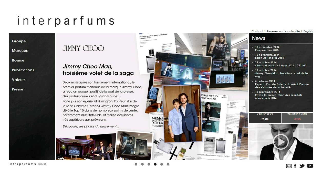 Page accueil Jimmy Choo