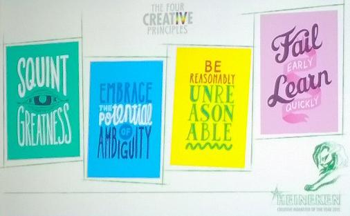 Heineken creative principles