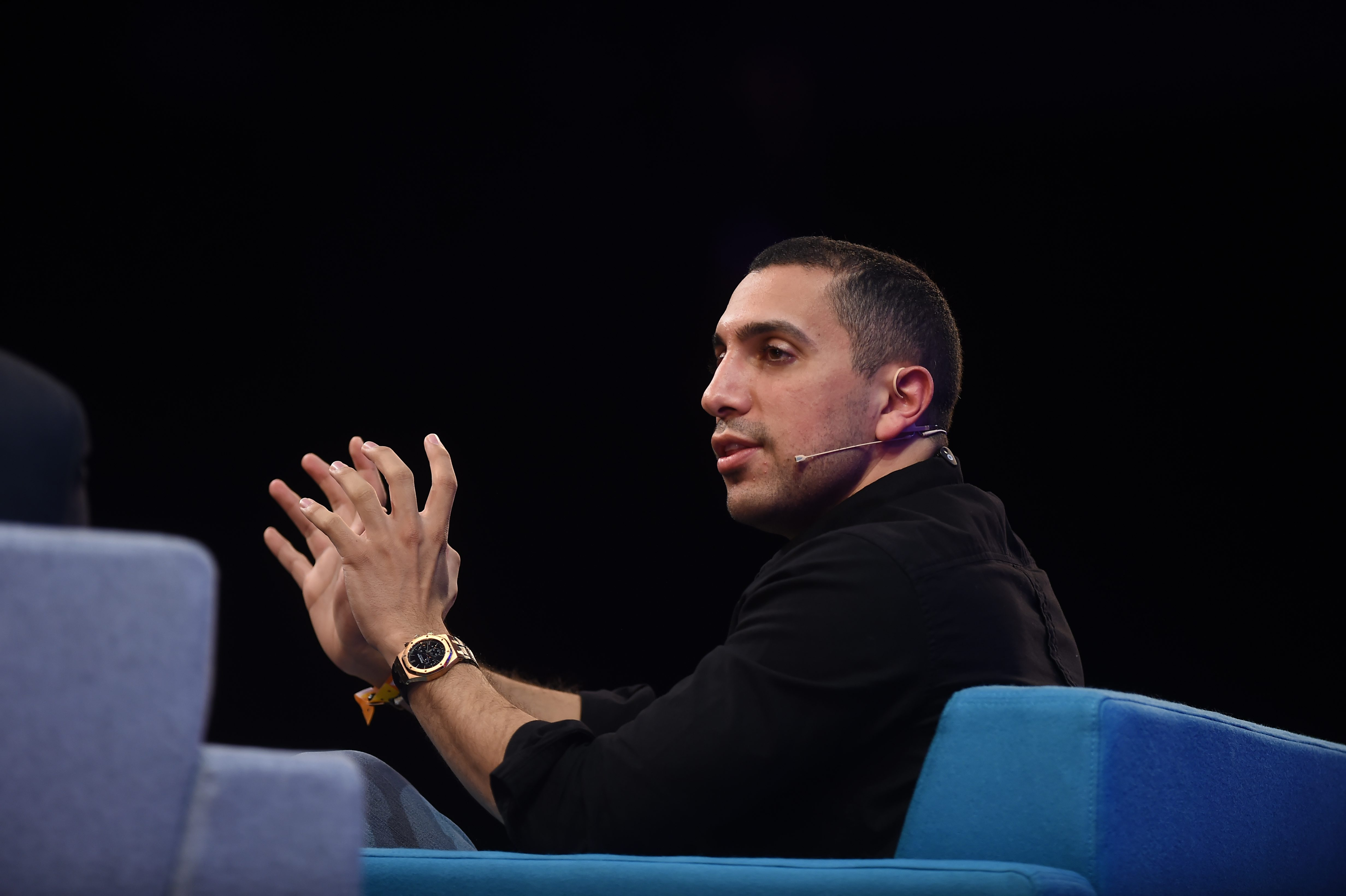 4 November 2015; Sean Rad, Co Founder & President, Tinder, on Centre Stage during Day 2 of the 2015 Web Summit in the RDS, Dublin, Ireland. Picture credit: Stephen McCarthy / SPORTSFILE / Web Summit