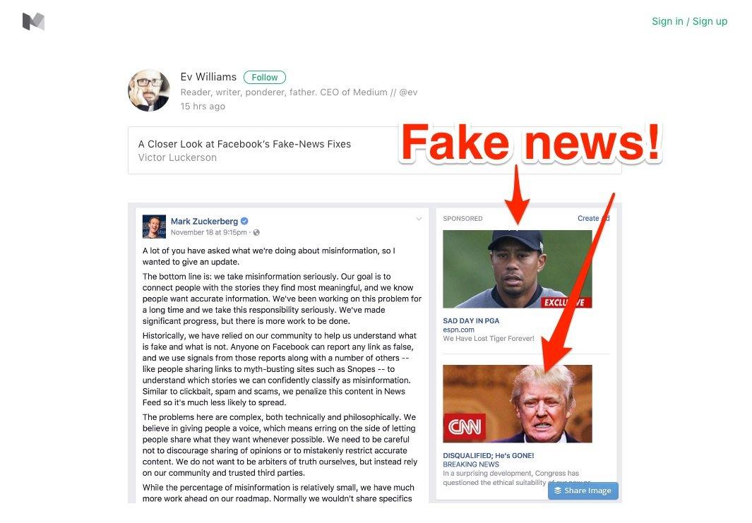 fake news facebook ad